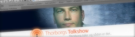 Lidt reklame for Thorborgs Talkshow...